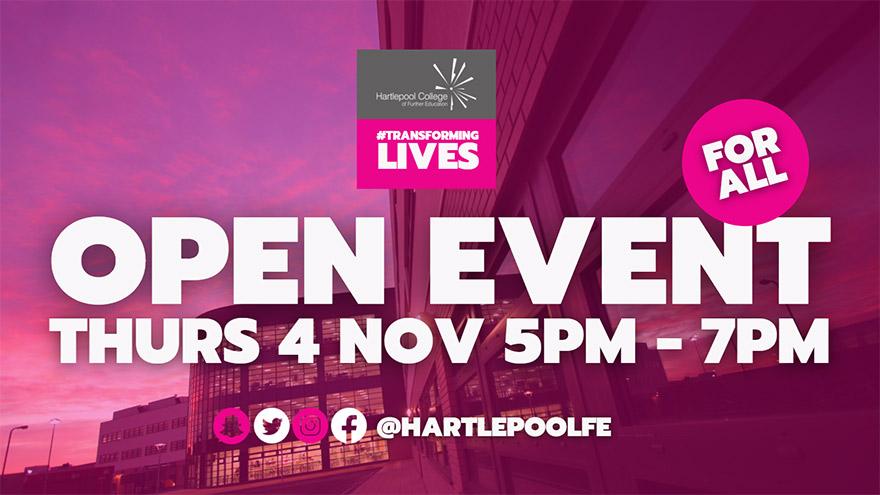 Open Event November 2021 Banner