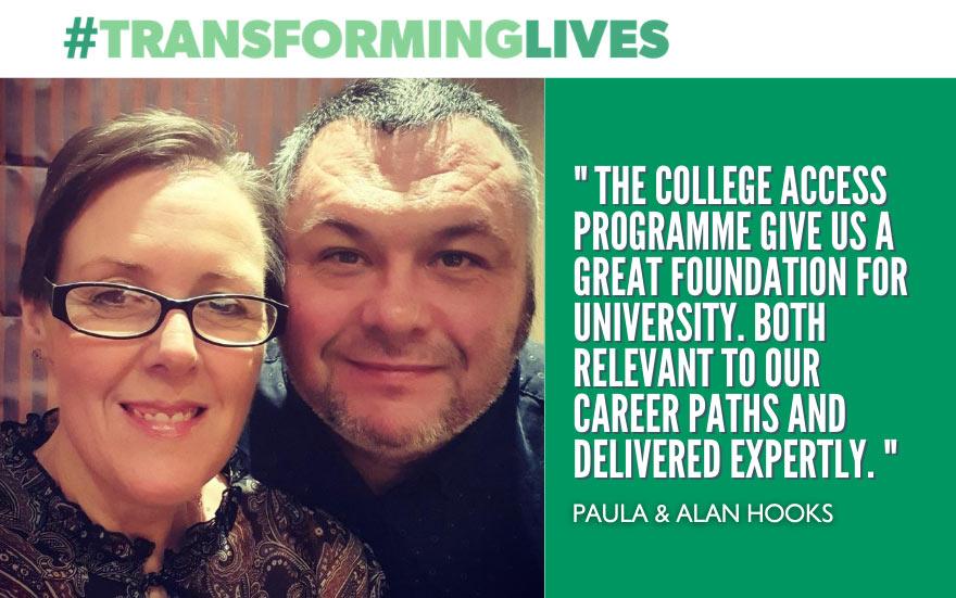 Transforming Lives Paula & Alan Hooks ~ Access to HE