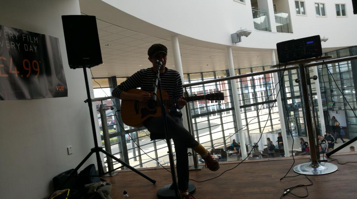 Musician in Atrium