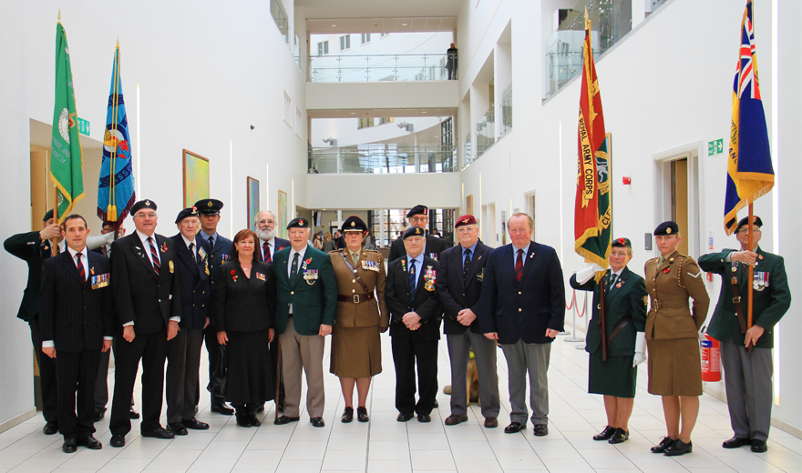 RESPECT - The British Leagion Standards and members of the allied forces at the 9th Annual Service of Remembrance
