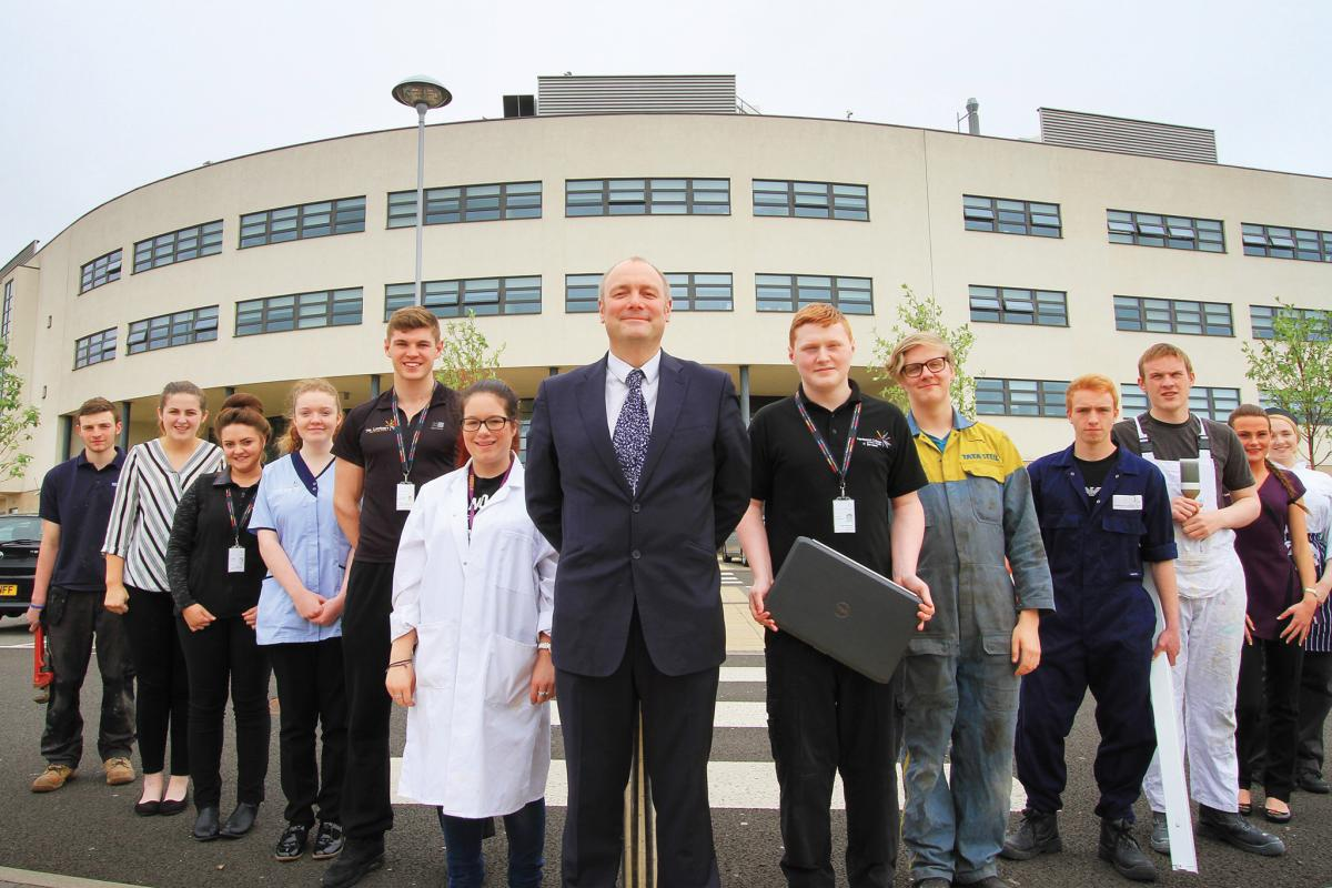 Darren Hankey with some of our ace apprentices